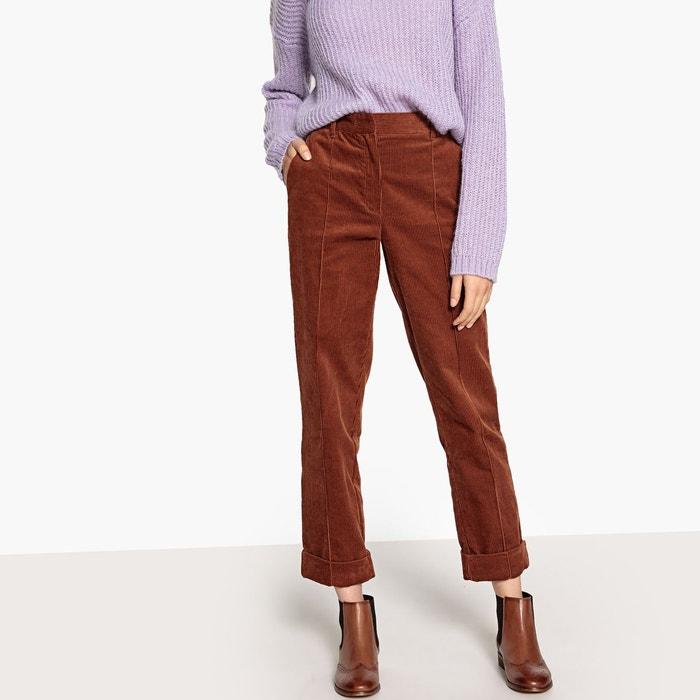 Pantalon droit, en velours  LA REDOUTE COLLECTIONS image 0