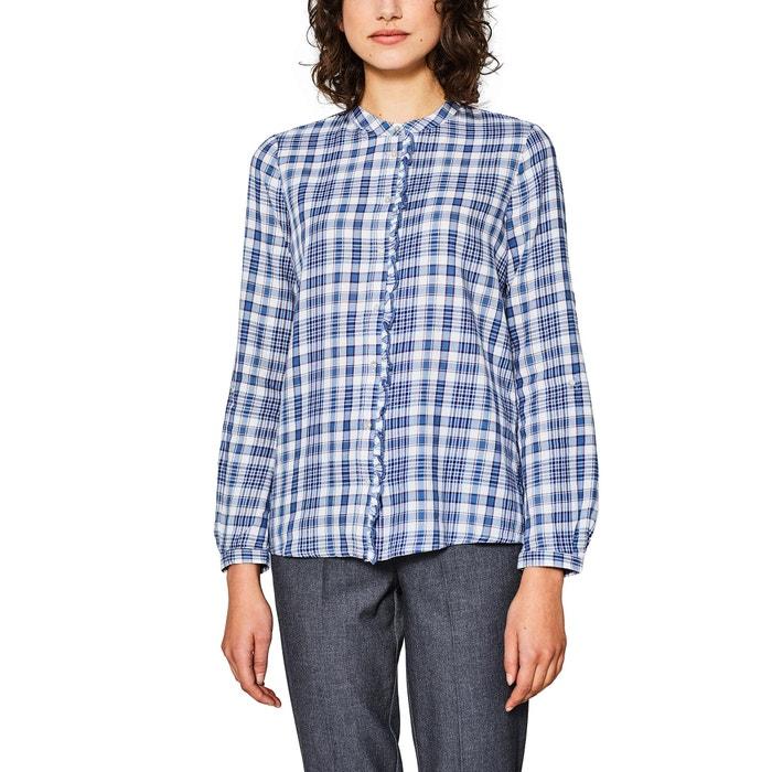 Checked Shirt with Polo Collar  ESPRIT image 0