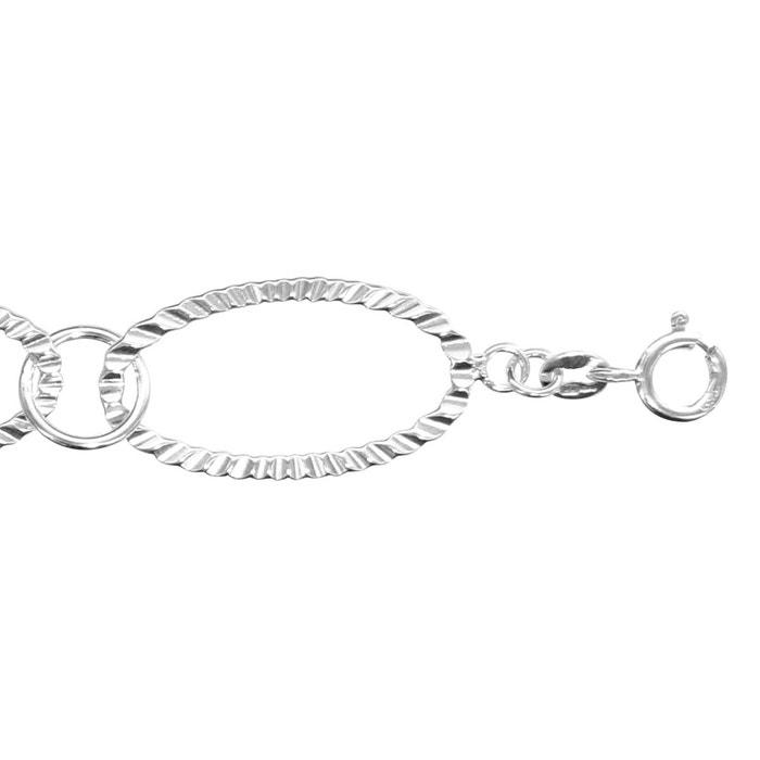 Bracelet maille ovale striée argent 925 couleur unique So Chic Bijoux | La Redoute Codes Promotionnels Vraiment Pas Cher QKChEX