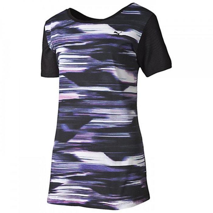 tee shirt blurred violet puma la redoute. Black Bedroom Furniture Sets. Home Design Ideas