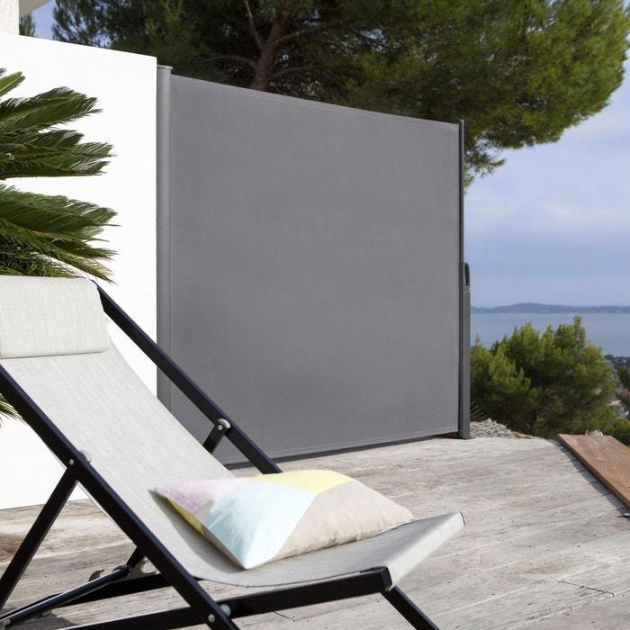 brise vue paravent enroulable toile d perlante la redoute interieurs gris la redoute. Black Bedroom Furniture Sets. Home Design Ideas