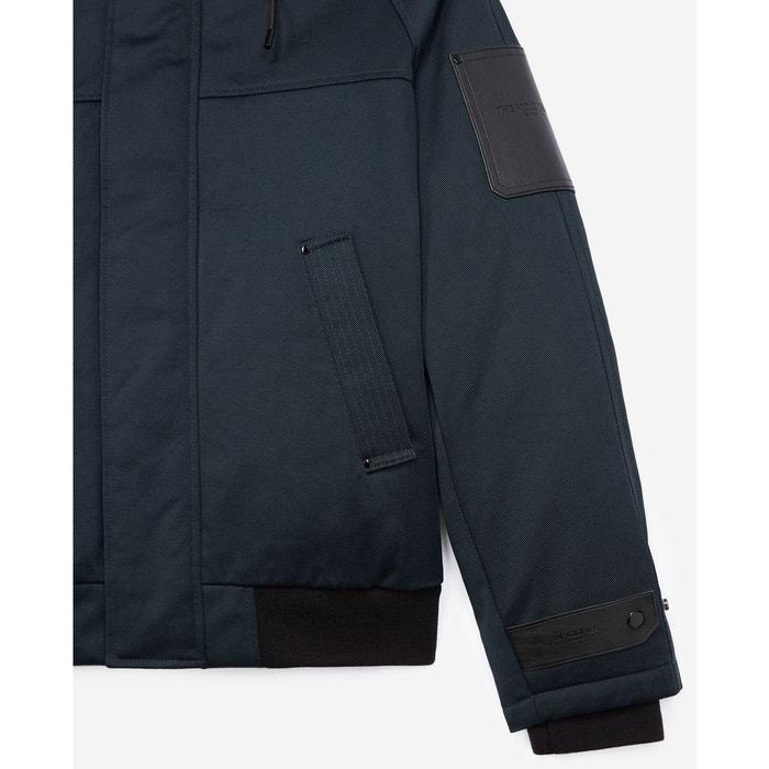 Doudoune en coton à détail en cuir nav03 The Kooples | La