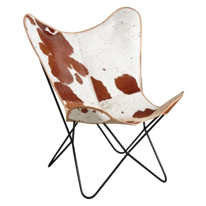 fauteuil butterfly en peau de vache naturel aubry gaspard la redoute. Black Bedroom Furniture Sets. Home Design Ideas