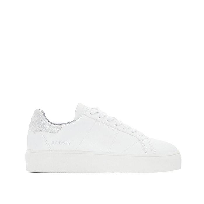 Baskets elda lace up blanc Esprit