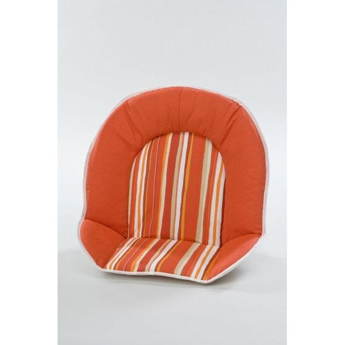 r ducteur tissus pour chaise haute b b geuther raye rouge orange couleur unique geuther la. Black Bedroom Furniture Sets. Home Design Ideas