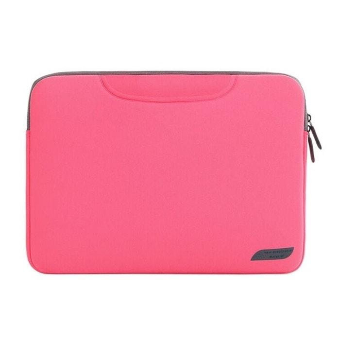 fa8f74d12c Sacoche ordinateur portable 15 pouces housse macbook pro antichoc rose rose  Yonis   La Redoute