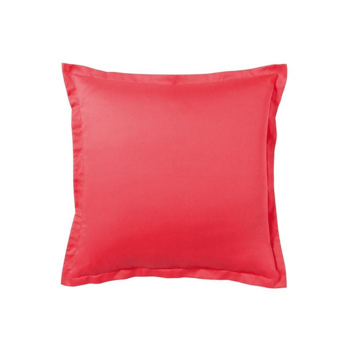 taie d 39 oreiller unie en satin de coton cerise cerise essix. Black Bedroom Furniture Sets. Home Design Ideas