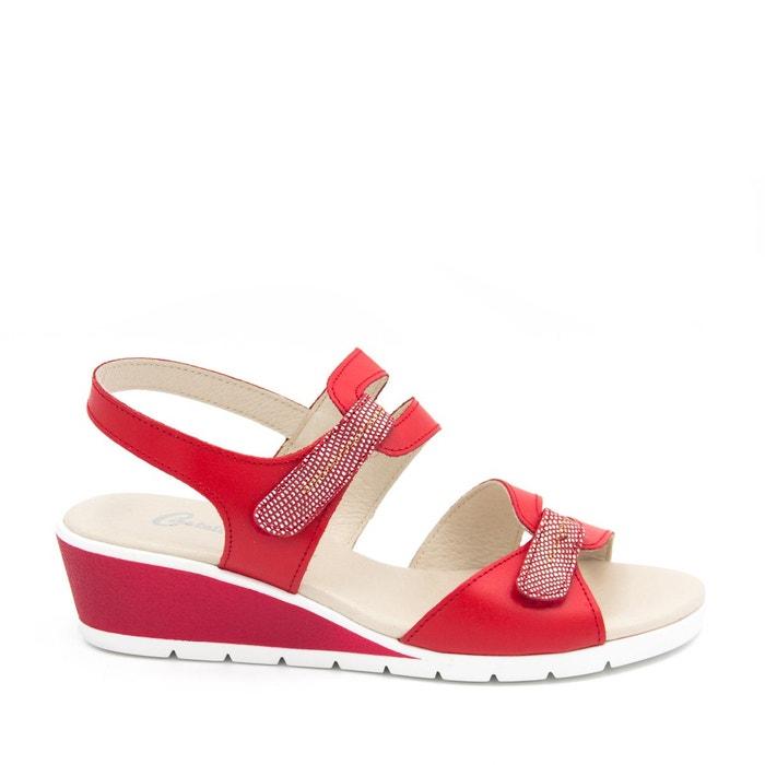 Castellanísimos sandales en cuir femmes eté 2018 rouge Castellanisimos Vue Jeu Prix De Gros Prix Pas Cher JBPcjZ