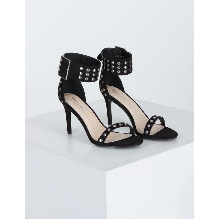 Sandales studs métal noir Morgan