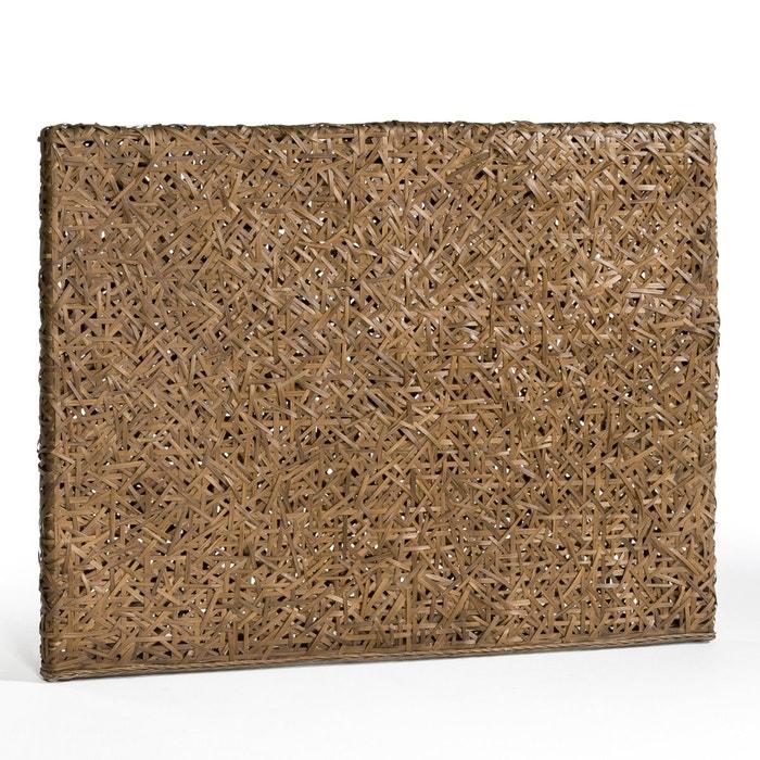 madeline woven rattan headboard h120cm dark wood am pm. Black Bedroom Furniture Sets. Home Design Ideas