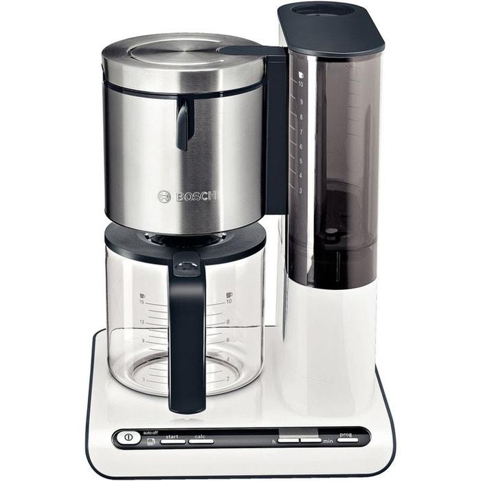 Cafeti re filtre programmable bosch tka8631 blanc inox blanc bosch la redoute - Detartrage cafetiere au vinaigre blanc ...