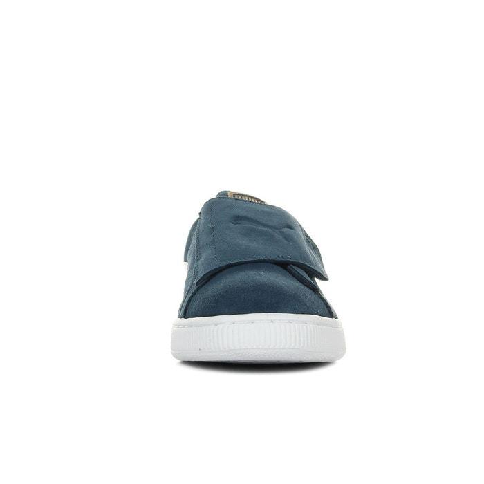 Baskets suede wrap bleu marine/blanc Puma