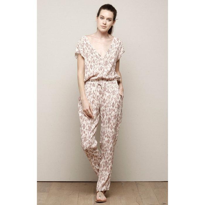Image Combinaison pantalon manches courtes imprimée CHARLISE