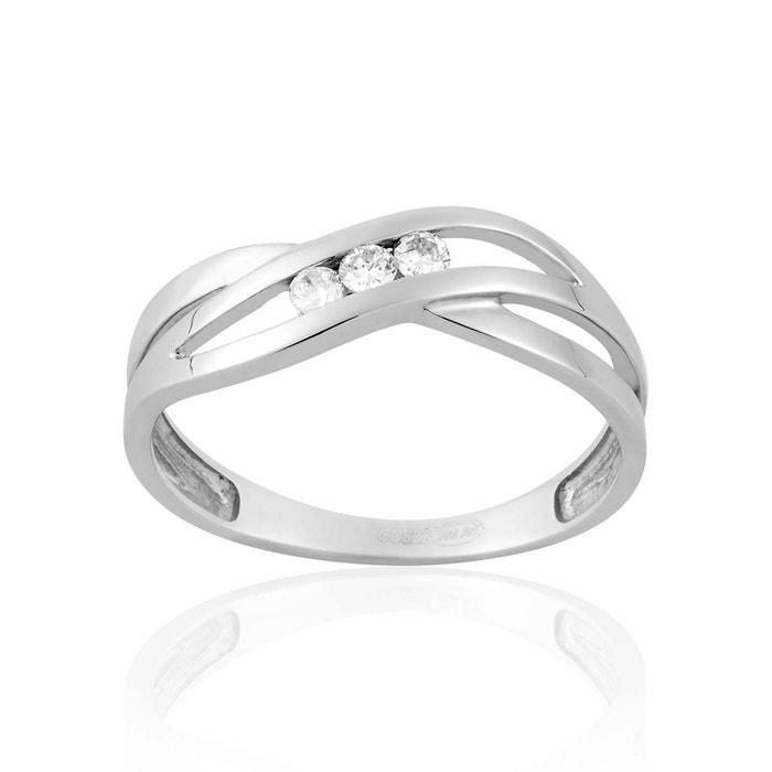 Bague en or 750/1000 blanc et diamant blanc blanc Cleor | La Redoute Magasin D'usine Visite Rabais Qualité Supérieure De La Livraison Gratuite Jeu Explorer fMGjOKKrw5