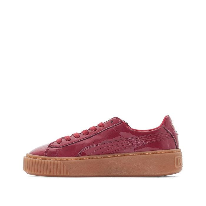 ... Baskets compensées platform patent rouge Puma ...