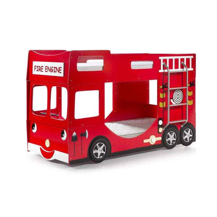 lit superpos pompier truck rouge terre de nuit la redoute. Black Bedroom Furniture Sets. Home Design Ideas