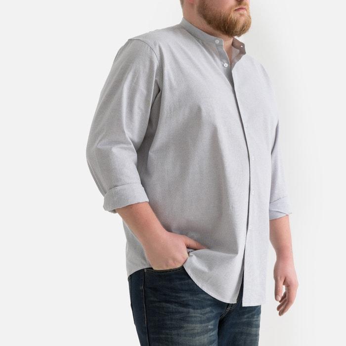 Recht hemd met Maokraag en smalle strepen  LA REDOUTE COLLECTIONS PLUS image 0