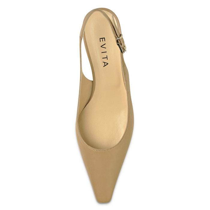 Escarpins sling nude Evita