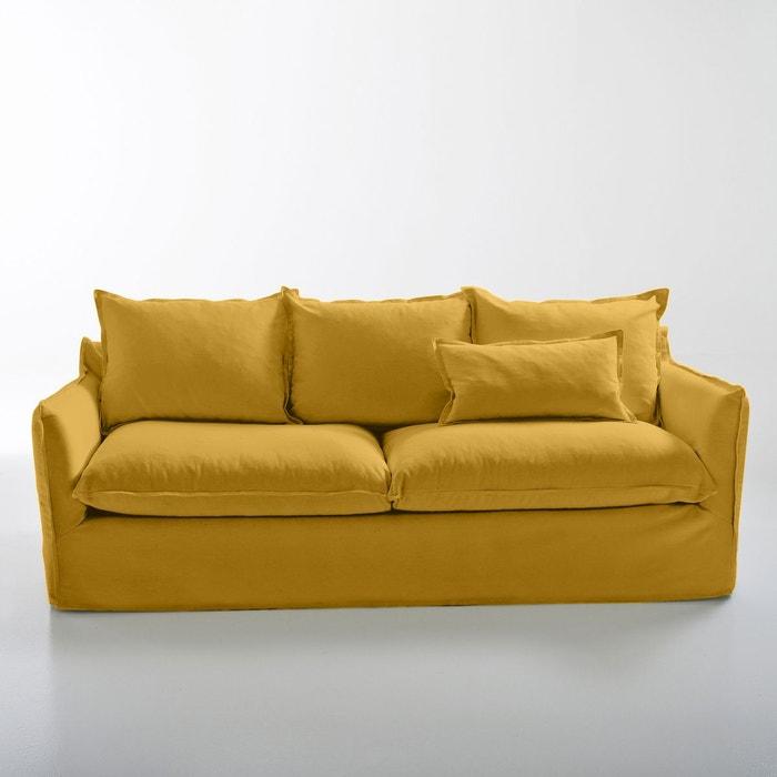 canap en coton lin odna bultex la redoute interieurs la redoute. Black Bedroom Furniture Sets. Home Design Ideas