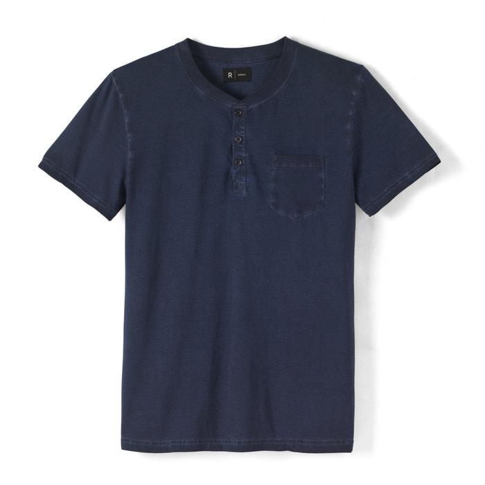 afbeelding T-shirt in zuiver katoen met tuniekhals en used effect R édition