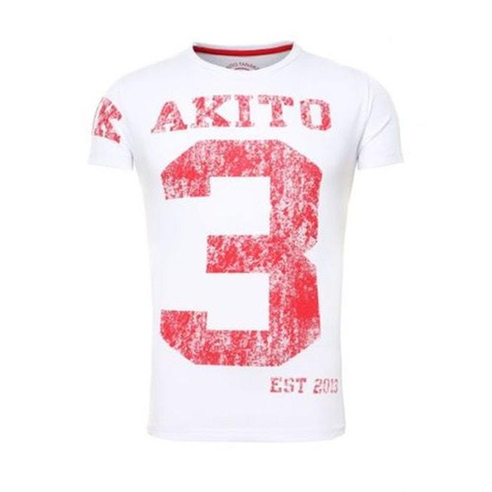 T-shirt Akito Tanaka Number Blanc Rouge