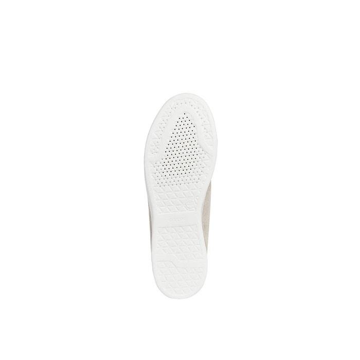 Baskets respirantes en cuir jaysen Geox gris clairblanc