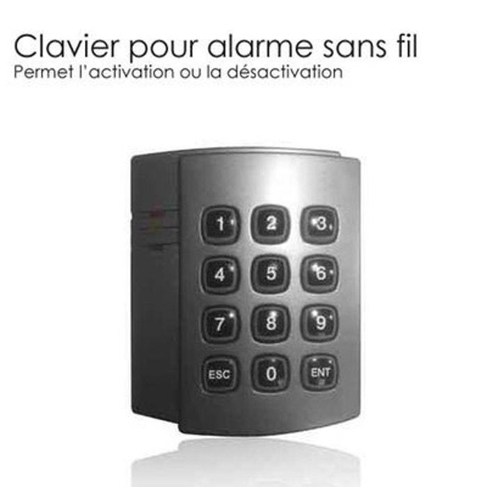 Clavier alarme digicode couleur unique securite good deal for Alarme maison securite good deal