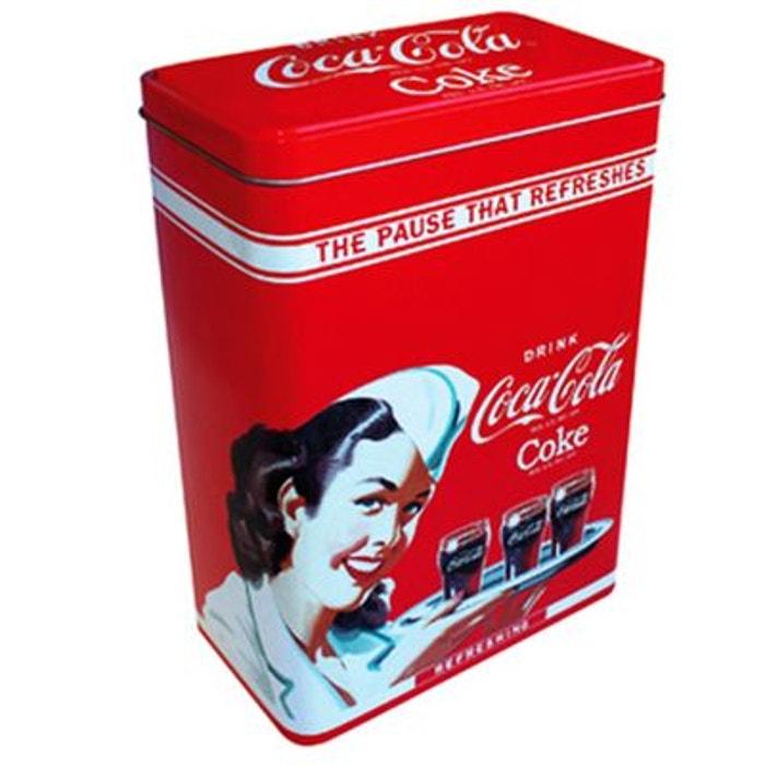 Boite c r ales en m tal coca cola couleur unique tropico for Boite a couture la redoute