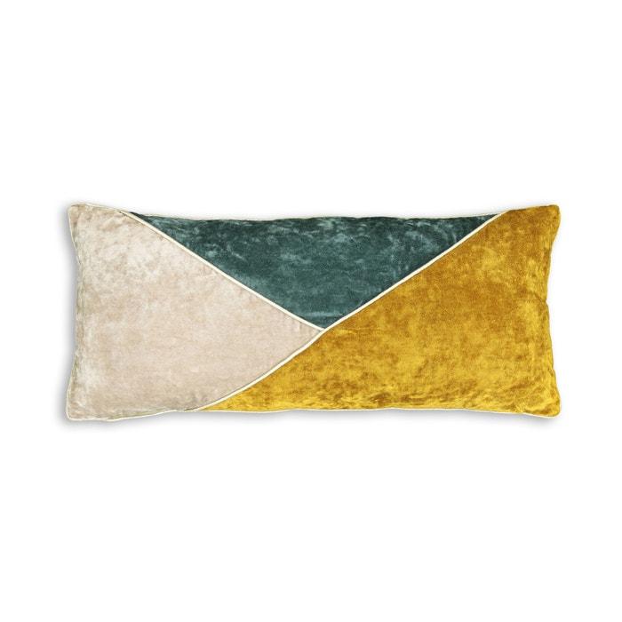 Almofada patchwork em veludo  MAISON PÈRE X LA REDOUTE image 0