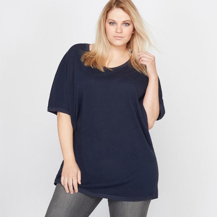 T-shirt ample lin et coton  CASTALUNA image 0