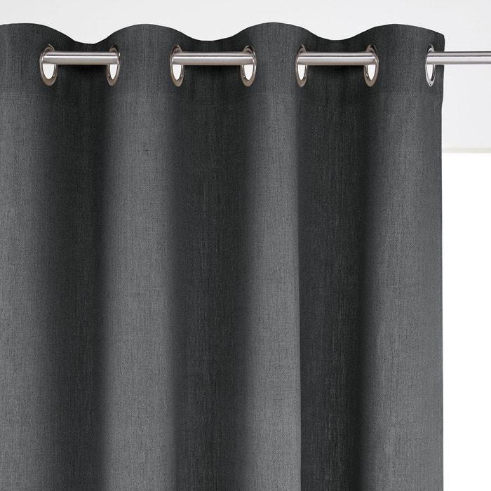 rideau pur lin barica gris anthracite la redoute. Black Bedroom Furniture Sets. Home Design Ideas
