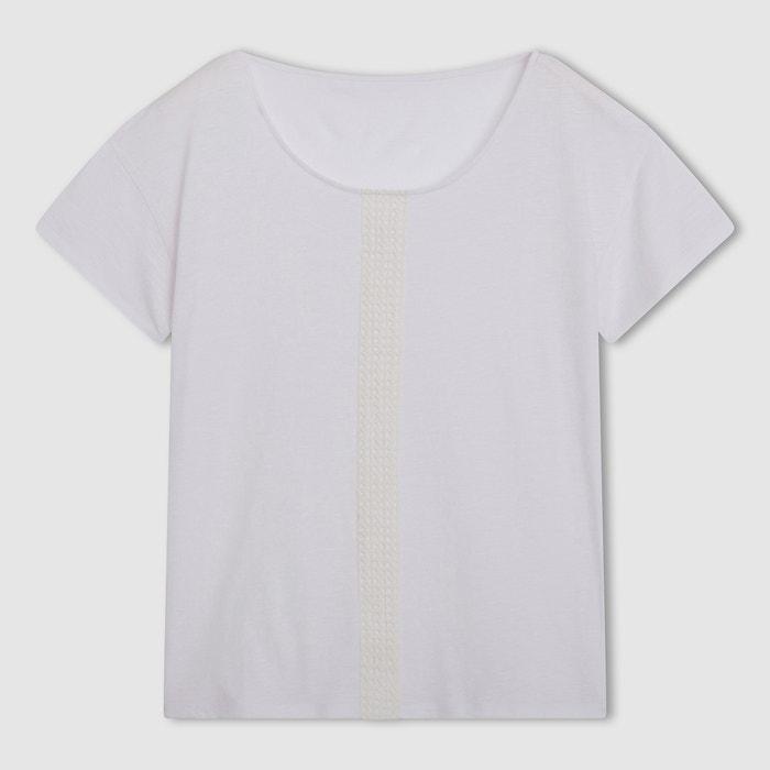 Image T-shirt met ajour vooraan R essentiel R essentiel