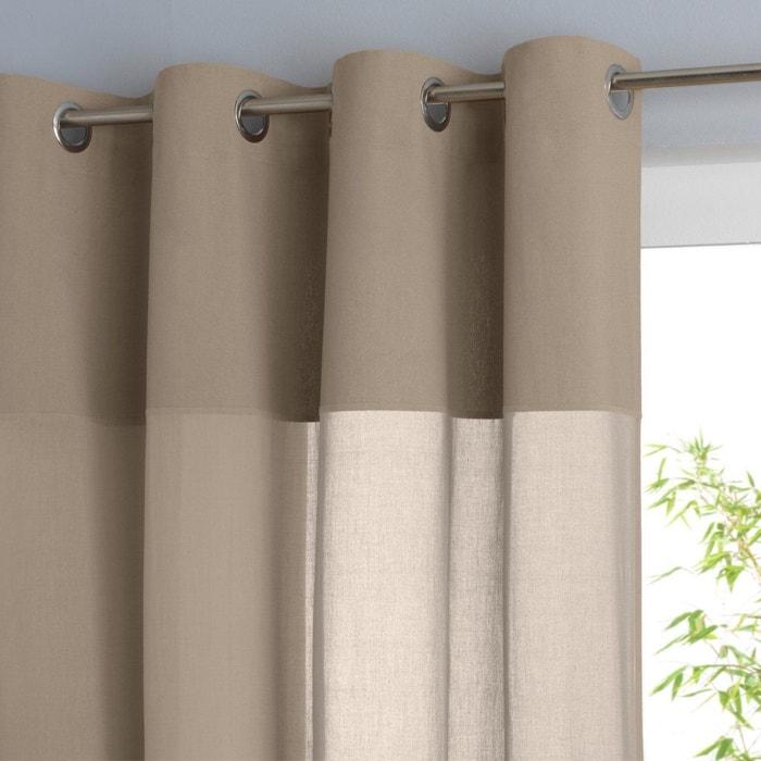 Voilage pur coton illets osmain la redoute interieurs for Rideaux cuisine la redoute