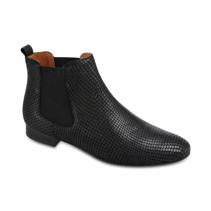 b4c72932835 Boots chelsea serpent noir Galeries Lafayette