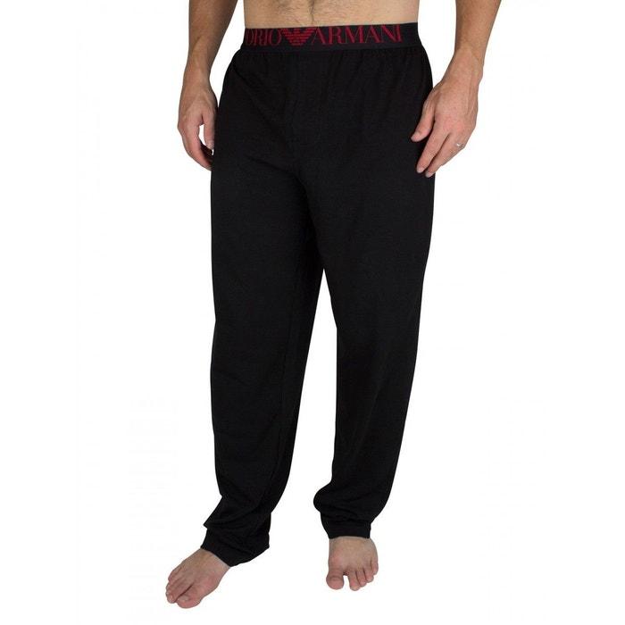 3f1f3f07e23f Pantalon de survêtement coton noir Emporio Armani Ea7