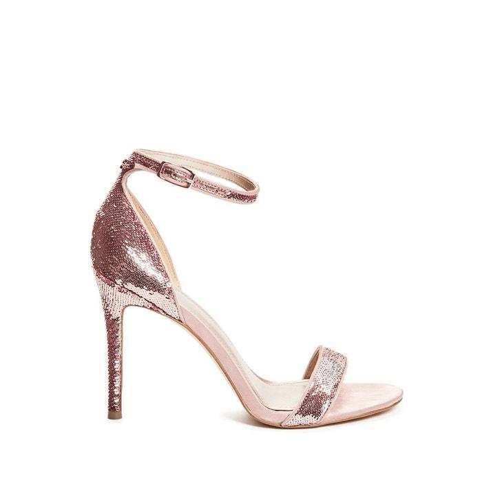 Sandales kahluan paillettes rose clair Guess