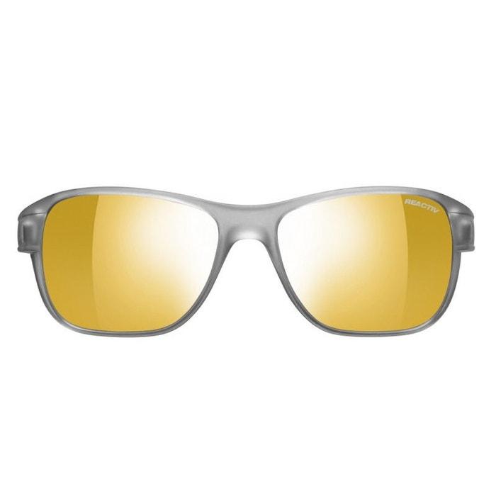 50bcbc0f064 Lunettes de soleil pour homme julbo gris clair camino gris translucide mat    jaune zebra gris clair Julbo