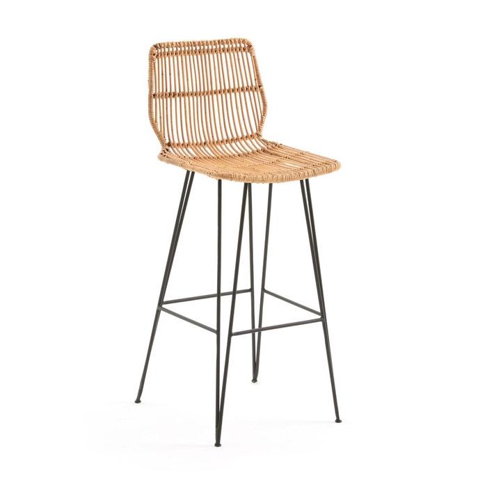 chaise de bar en kubu malu la redoute interieurs la redoute. Black Bedroom Furniture Sets. Home Design Ideas
