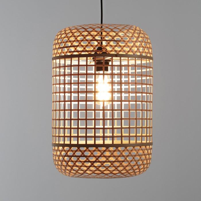 Hanglamp in bamboe, h46 cm, Cordo  LA REDOUTE INTERIEURS image 0