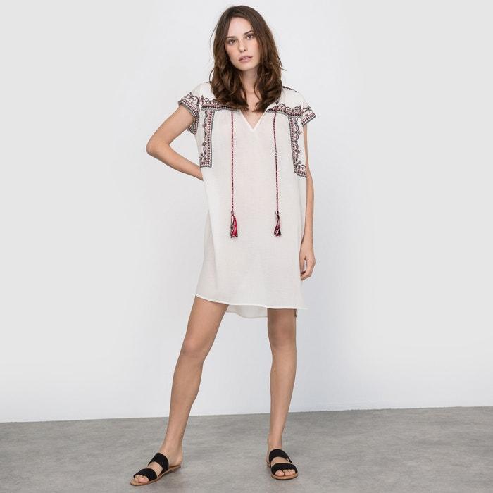 Vestido bordado  La Redoute Collections image 0