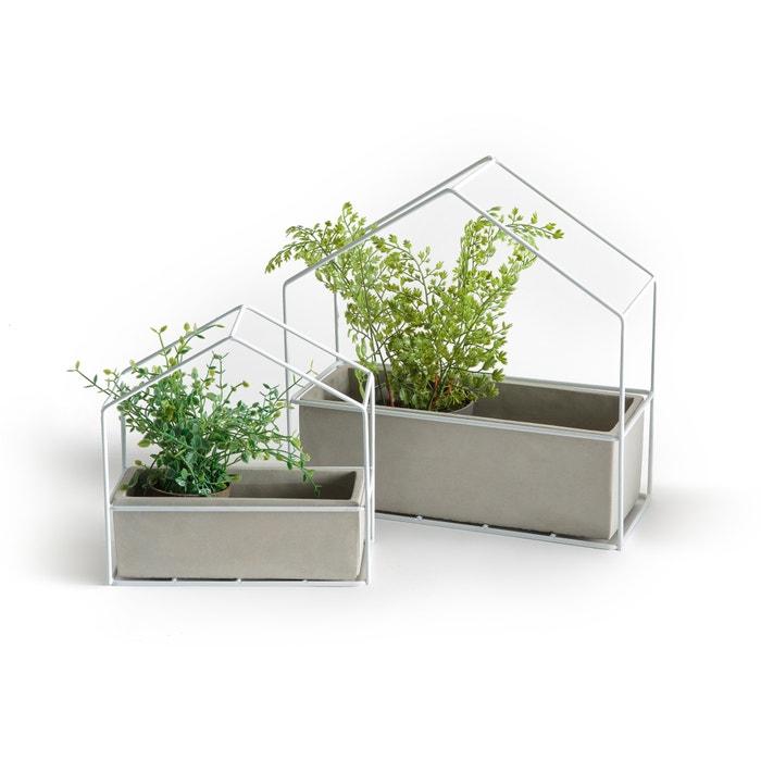 Aerio Cement & Metal Flower Pots (Set of 2)  La Redoute Interieurs image 0