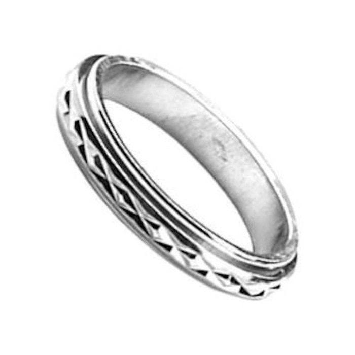 Bague alliance anneau motif tournant mobile anti Vente Pas Cher Avec Mastercard rQaCCOw4Oh