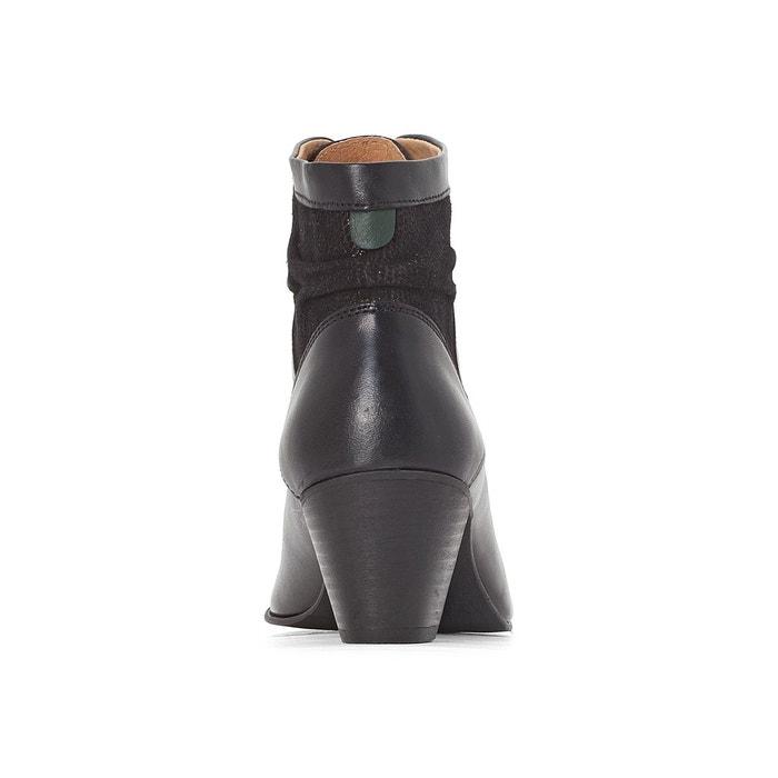 Bottillons cuir seet noir Kickers