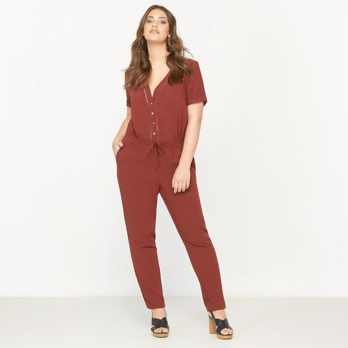 Combinaison pantalon manches courtes marron rougi castaluna la redoute - La redoute combinaison ...