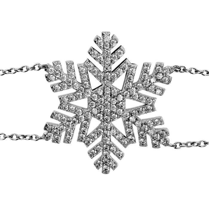 Bracelet longueur réglable: 16 à 19 cm flocon oxyde de zirconium blanc argent 925 couleur unique So Chic Bijoux | La Redoute La Fourniture Large Gamme De Pas Cher En Ligne Footlocker Pas Cher GB3Q6In