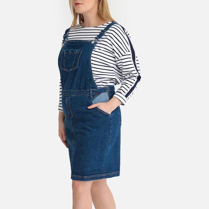 827b49f8866 Denim dungaree pinafore dress stonewashed blue Castaluna Plus Size ...
