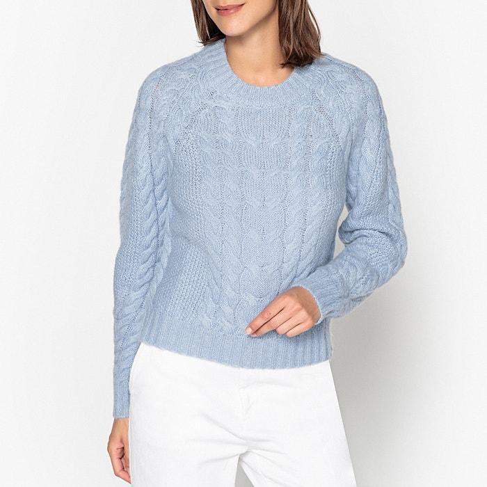 Pull col rond à torsades en maille tricot  SAMSOE AND SAMSOE image 0