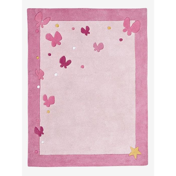 Tapis papillons rose clair imprim vertbaudet la redoute Tapis rose clair