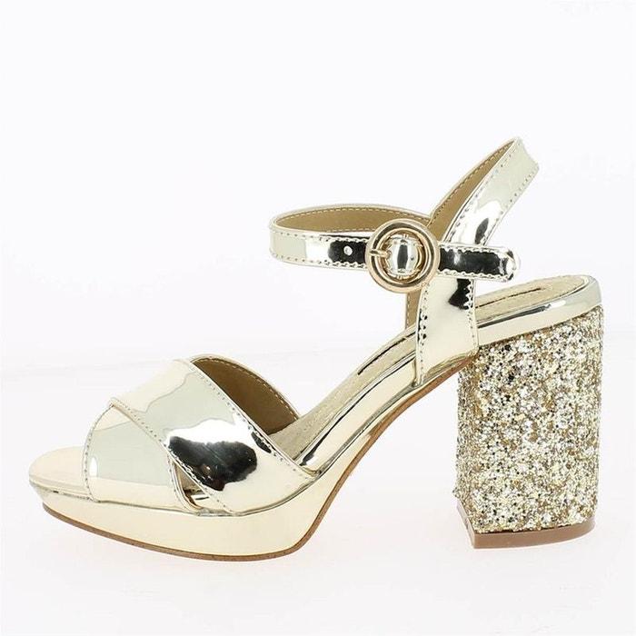 Sandales  /  nu-pieds synthétique  beige Maria Mare  La Redoute