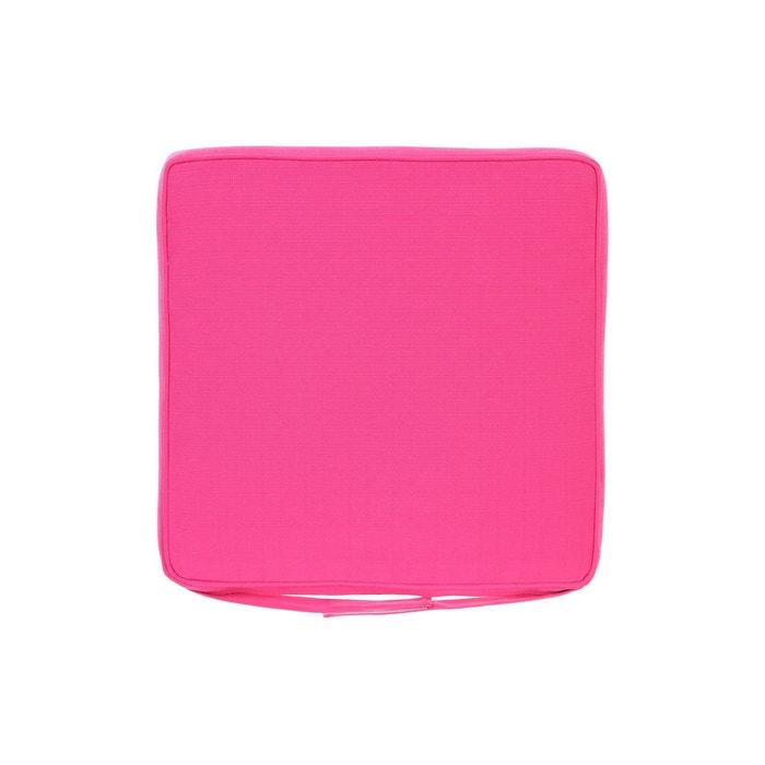 Galette de chaise 40 x 40 cm framboise rose hesperide la redoute - Housse de chaise la redoute ...